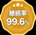 継続率99.6%
